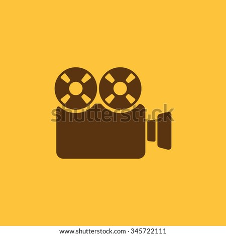 The video camera icon. Camcorder symbol. Flat Vector illustration - stock vector
