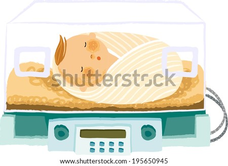 The view of baby  - stock vector