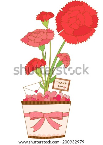 The view of carnation  - stock vector