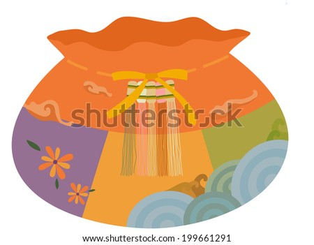 The view of lucky bag  - stock vector