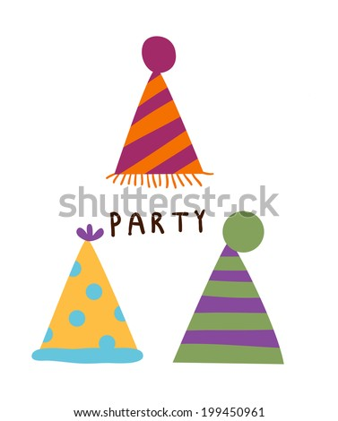 The view of party hat  - stock vector