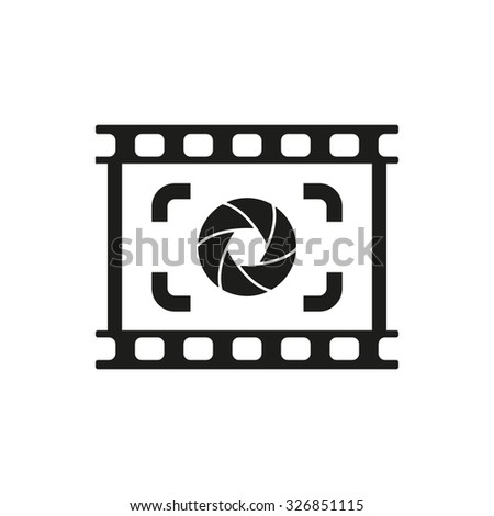 The viewfinder icon. Focusing and photography, photo symbol. Flat Vector illustration - stock vector