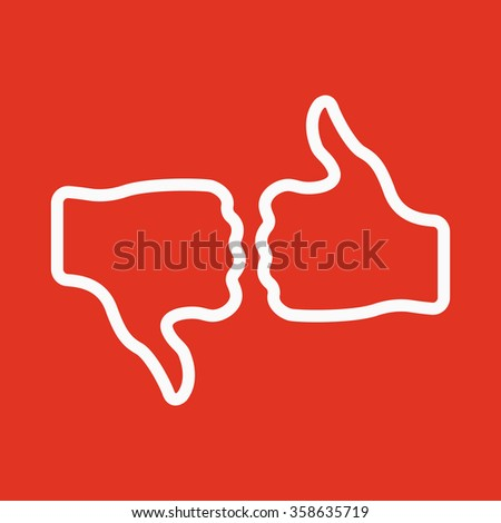 The voting icon. Vote and like symbol. Flat Vector illustration. Button Set - stock vector