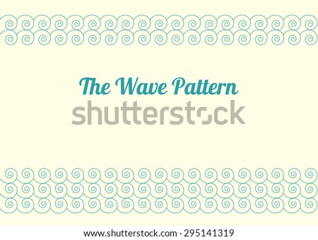 The Wave Pattern The pattern of scrollwork depicting frequent waves - stock vector