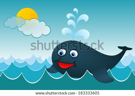 The Whale - stock vector