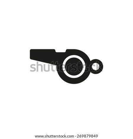 The whistle icon. Referee symbol. Flat Vector illustration - stock vector