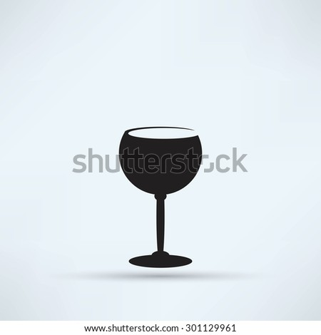 The wineglass icon. Goblet symbol - stock vector