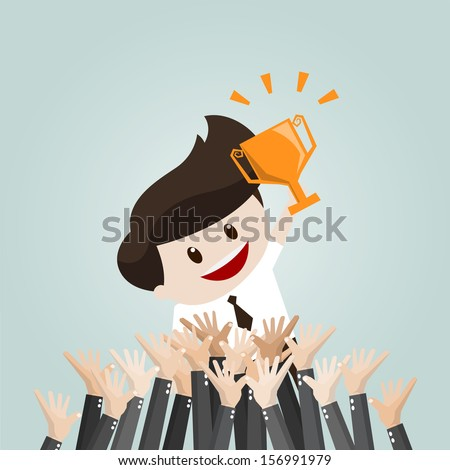 The winner - stock vector