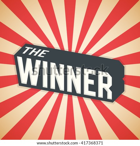 The Winner, Poster Design. Vector illustration - stock vector