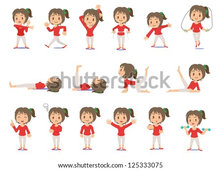 The woman who diets - Set - stock vector
