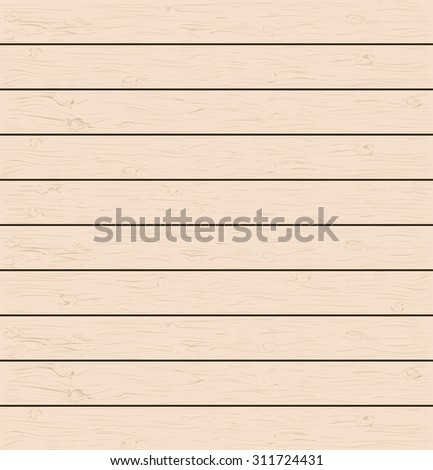The wooden planks of various light shades. Realistic wood texture. You can easily change the main color of the wooden structure.Vector illustration. - stock vector