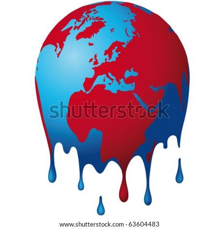 the world dissolves - stock vector