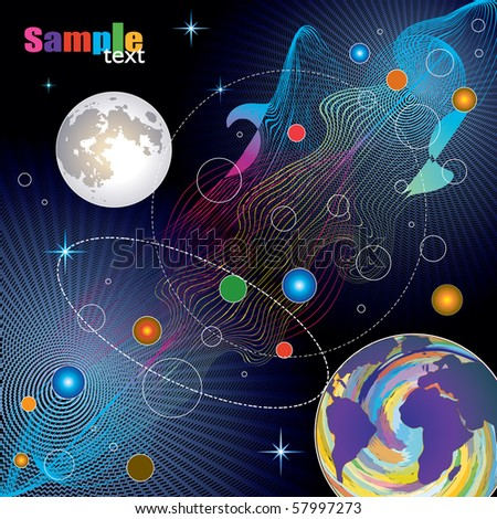 The world of the communication, new technology - stock vector