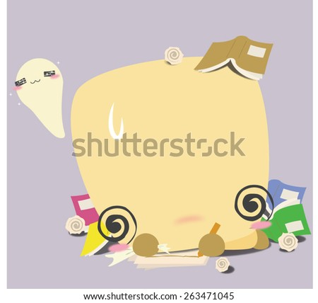 The yellow bell pepper is woking too hard. He starts to get confused and everything is a mess now! Take some rest, fella! - stock vector