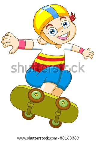 the young boy in skateboarding