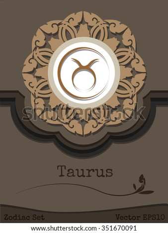 The Zodiac sign Taurus Concept overlay of paper. - stock vector