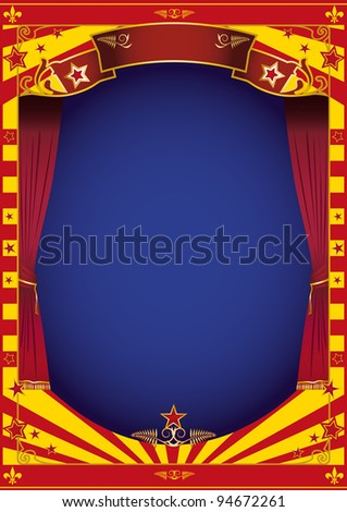 theater. An illustration of a stage for you. - stock vector
