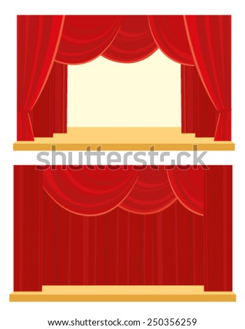 Theater and cinema curtain - stock vector