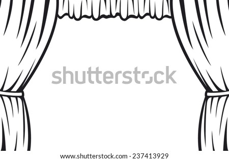 theater curtain  - stock vector