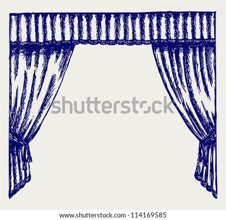 Theater curtain. Sketch