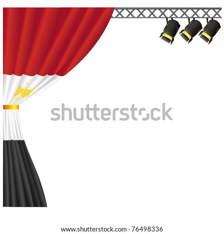 Theater  Egypt . vector - stock vector