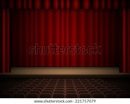 Theater interior  - stock vector