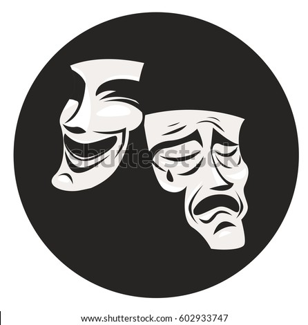 theater masks comedy drama stock vector 602933747 shutterstock rh shutterstock com drama vector drama victorians