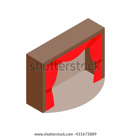 Theater stage icon - stock vector
