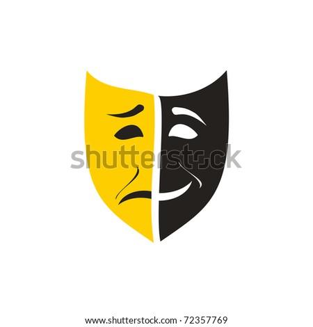 theatre mask - stock vector