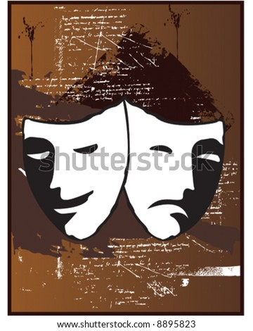 Theatre Masks - stock vector