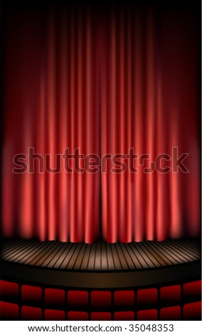 Theatre stage - stock vector