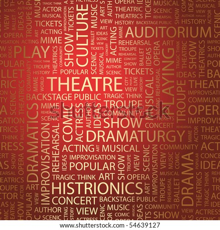 THEATRE. Word collage. Vector illustration.