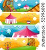 Theme Park Banners - Vector - stock vector