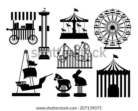 Theme park design over white background, vector illustration - stock vector