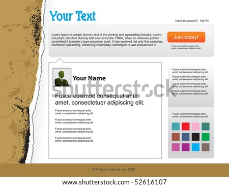 themes website design template background, vector illustration - stock vector