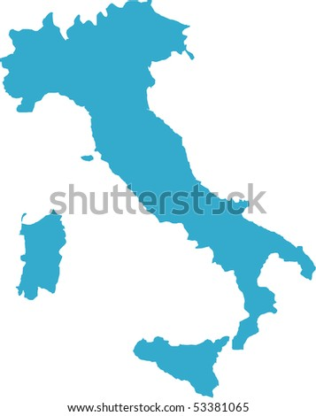 There is a map of Italy country - stock vector