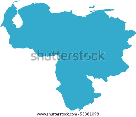 There is a map of Venezuela country - stock vector