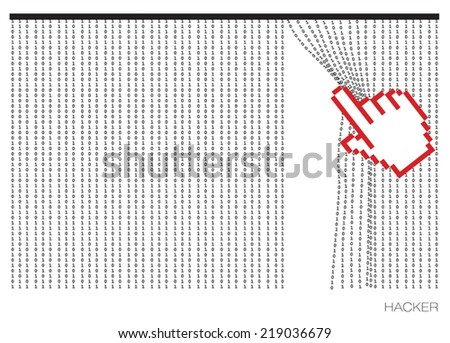 there is no protection from hackers - stock vector
