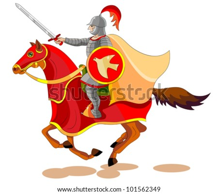 There went out another horse that was red: and power was given to him that sat thereon to take peace from the earth, and that they should kill one another - stock vector