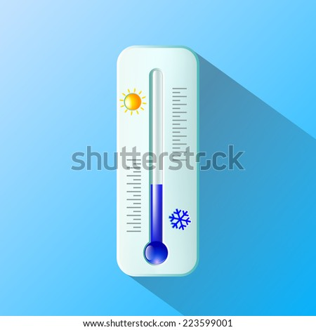 thermometer. Flat design - stock vector