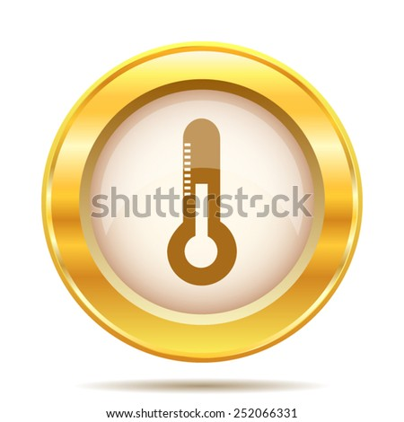Thermometer icon. Internet button on white background. EPS10 vector.  - stock vector