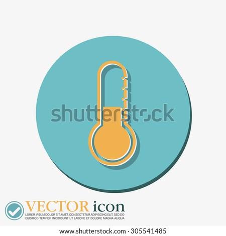 thermometer icon. temperature symbol - stock vector