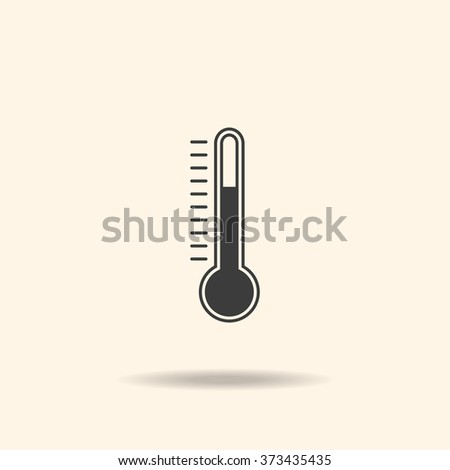Thermometer Icon, Thermometer Icon Vector, Thermometer Icon JPG, Thermometer Icon JPEG, Thermometer Icon EPS, Thermometer Icon design - stock vector