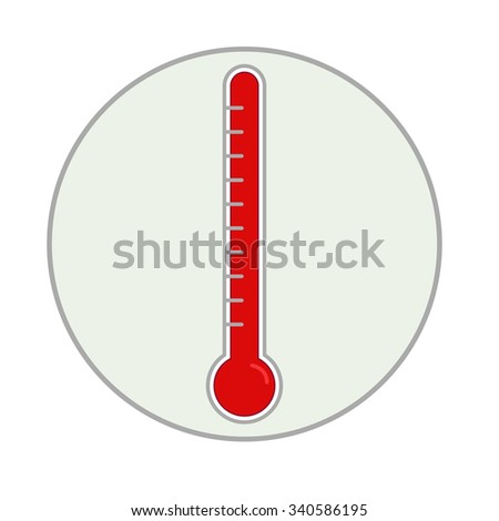 Thermometer icon. Vector illustration