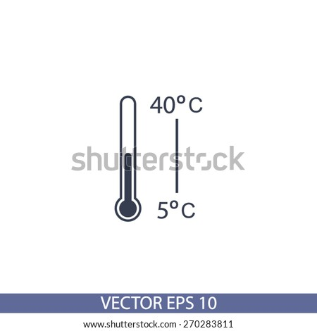 Thermometer  icon, vector illustration. Flat design style - stock vector