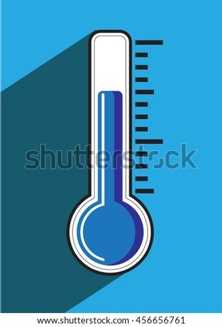 Thermometer icon , vector illustration. Ice, cold.