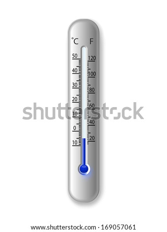 thermometer on a white - stock vector