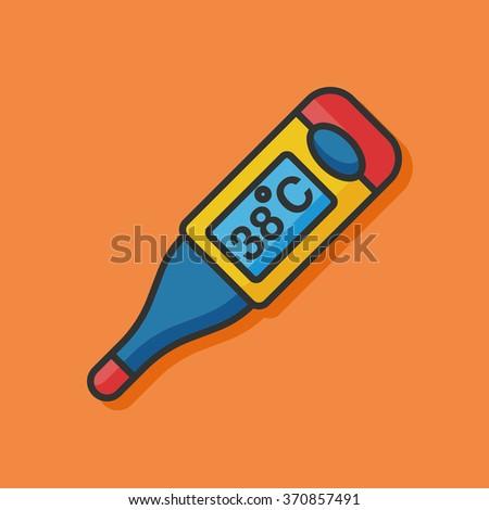 Thermometer temperature vector icon - stock vector