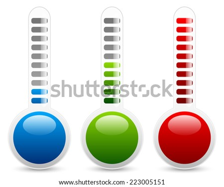 Thermometer vector - stock vector