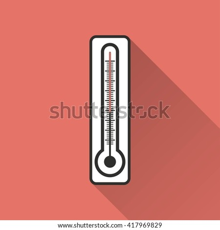 Thermometer    vector icon. Illustration isolated for graphic and web design.